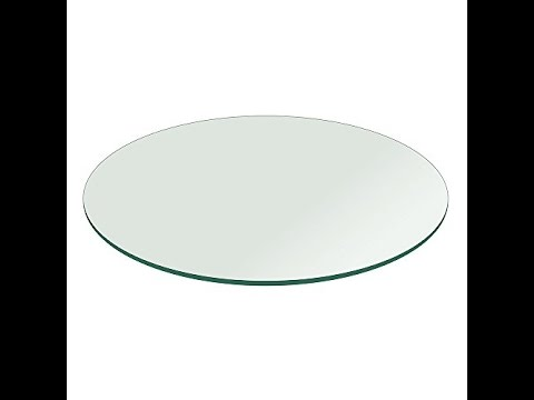 Round Glass Table Top 45 Inch 1 4 Inch Thick Flat Polished Tempered