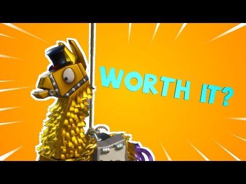 Opening 4 Legendary Troll Stash Llamas! Worth the 2000 VBucks?
