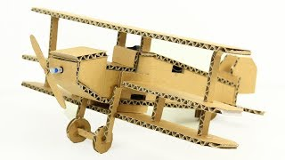 How To Make A Plane from Cardboard & DC Motor