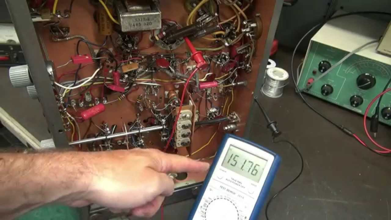 how to repair vintage tube radio filter capacitor fix hum antique receivers [ 1280 x 720 Pixel ]