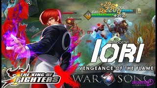 IORI of King of Fighters join in War Song MOBA 5vs5 now in Mobile Legends - Razer Phone Gameplay
