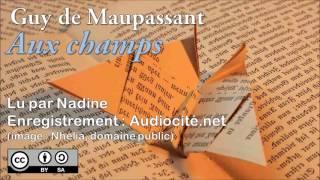 Livre Audio Aux Champs Guy De Maupassant