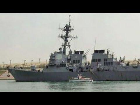 US Navy destroyer targeted by missiles from rebel-held Yemen