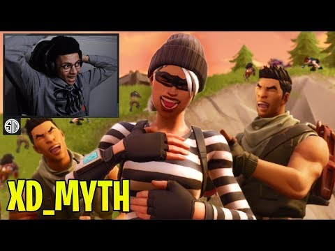 Myth Reacts To XD First Trickshot Clan In Fortnite! - Fortnite Moments #97