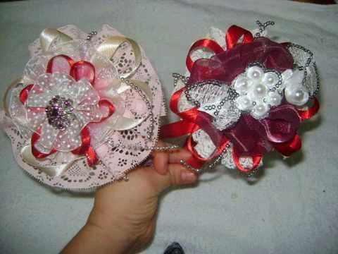 Paso a paso de diademas con cintas y encajes how to make a headband with ribbon and lace youtube - Manualidades con lazos ...