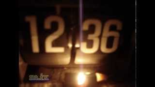 Vintage Flip Clock PANASONIC RC-6003B Флип-клок винтажные Часы-радио