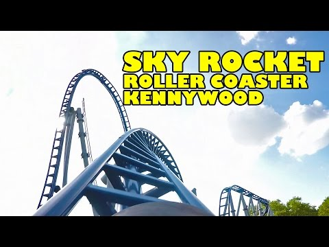 Sky Rocket Roller Coaster Front Seat POV View 60FPS Kennywood Amusement Park
