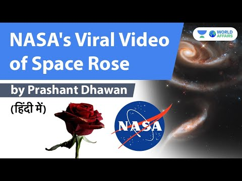 NASA's Viral Video of Space Rose #shorts #youtubeshorts