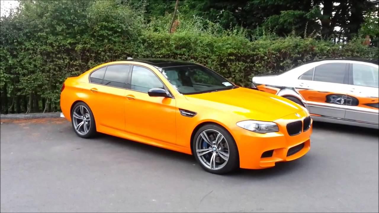 Bmw M5 Orange Gloss Vinyl Wrap Carstyle Ie Youtube