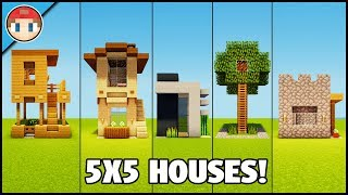 5 Minecraft 5x5 Houses! - Easy Tutorial You Can Build