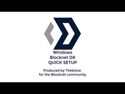 Blocknet DX - QUICK SETUP