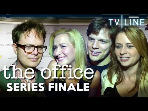 Nbc 39 s the office official series finale wrap party youtube - The office season 9 finale ...