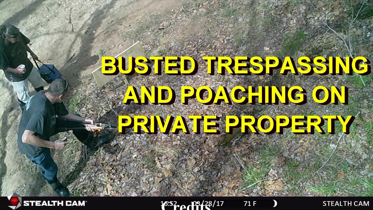 Download TRESPASSERS BUSTED!!  CAUGHT ON CAMERA..What I had to say to them.  A little chicken talk too!