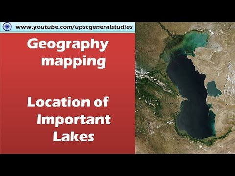 Geography mapping: Location of important Lakes of the world (Google maps)