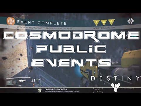 Destiny: Cosmodrome Public Event Schedule - Best Vanguard Mark and Public Event Route