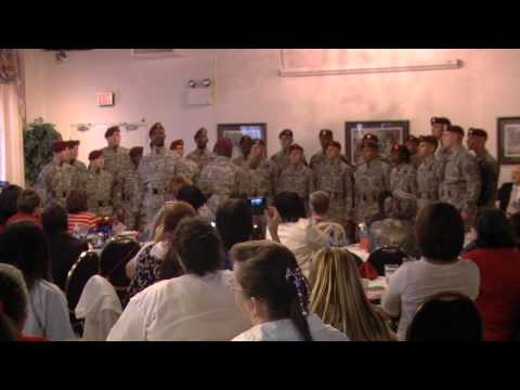 82nd Airborne All American Chorus Singing God Bless the USA