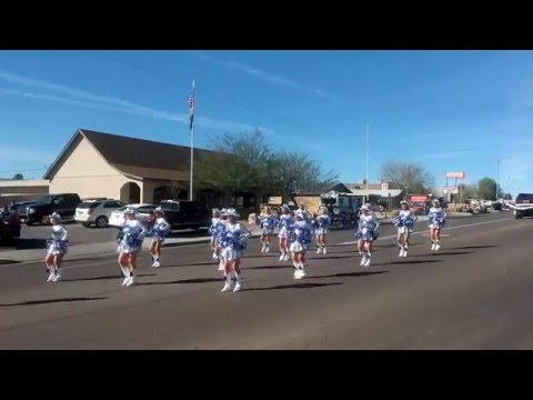 Sun City Poms at Wickenberg Gold Rush Days Parade.