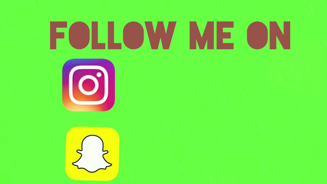 Social Media Green Screen Instagram Snapchat G Youtube