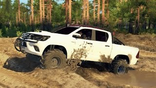 2016 TOYOTA HILUX OFF-ROAD TEST! 4x4 Mudding & Hill Climbing! (SpinTires)