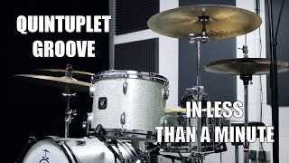 Quintuplet Groove in less than a Minute  - Daily Drum Lesson