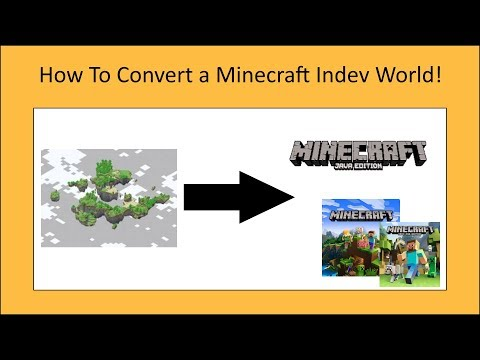 How To Convert A Minecraft Indev World To Any Version You Want!