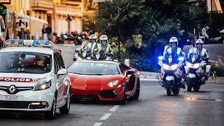 POLICE vs SUPERCARS in Monaco! | Top Marques 2017