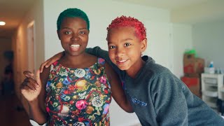 Daughter and Mom Change of Hair Color