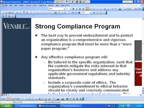Detecting and Preventing Fraud and Embezzlement in Your Nonprofit Organization - December 6, 2011