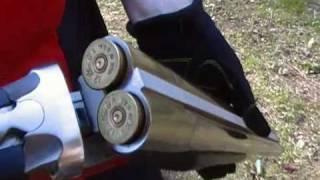 Repeat youtube video CAMO KNIGHTS Kyle Bush 12ga Double barrel Shotgun Both triggers same time 4oz 00 stoeger coach gun