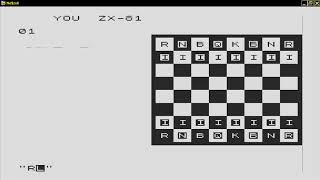 Chess 19xx SINCLAIR ZX80 ZX 80 ZX81 ZX 81 Science of Cambridge Ltd