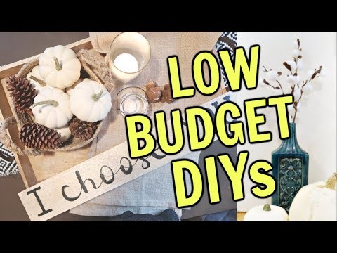 Farmhouse Decor DIYs for Fall (ON A BUDGET)