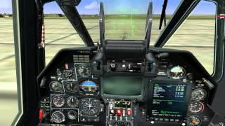 Запуск вертолета Ка-50(не обучение)