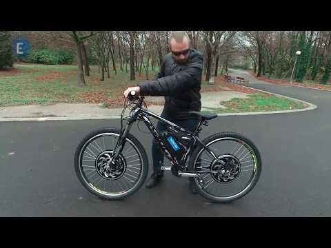 Установка двух мотор-колес на велосипед. Видео