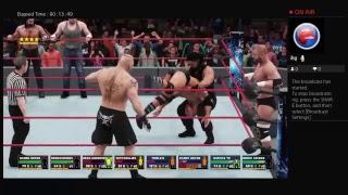 Seth Rollins, Roman Reigns, Dean Ambrose, Daniel Bryan vs. Evolution, Brock Lesnar WWE2K18