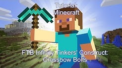 Tinkers' Construct: Crossbow Bolts Tutorial