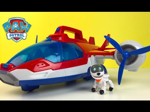 EL helicoptero de Patrulla Aerea Patrulla Canina - Paw Patrol Air Patroller - Robo Perrito Robo Dog