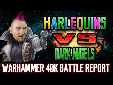 Harlequins vs Dark Angels Warhammer 40k 8th Edition Battle Report Ep 59