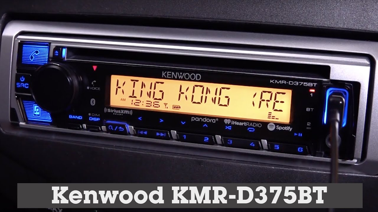 Kenwood KMR-D375BT Display and Controls Demo | Crutchfield Video on