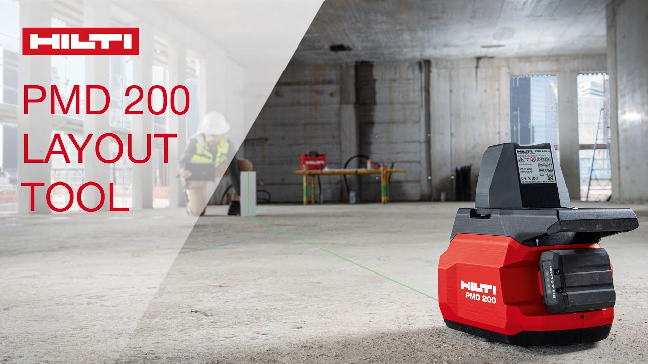 INTRODUCING Hilti PMD 200 interior jobsite layout tool for drywall