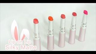 SWATCH   Rohto Lip On Lip Silky Matte Lipstick ♡ Pretty.Much