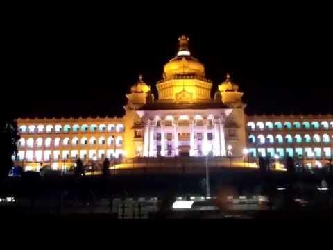 Bangalore Vidhana Soudha - Popular Tourists Places in Karnataka