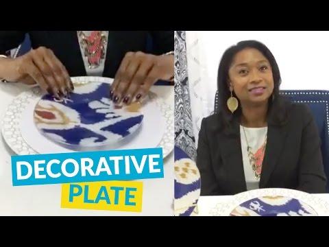 Decorative DIY Plate Using Fabric!