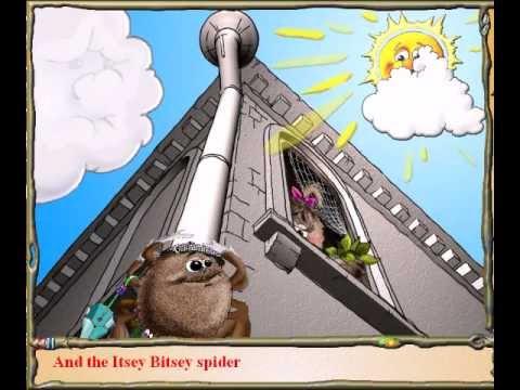 Itsy Bitsy Spider (with lyrics)