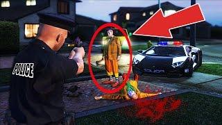KILLER CLOWN SIGHTINGS! (GTA 5 Mods PLAY AS A COP MOD)