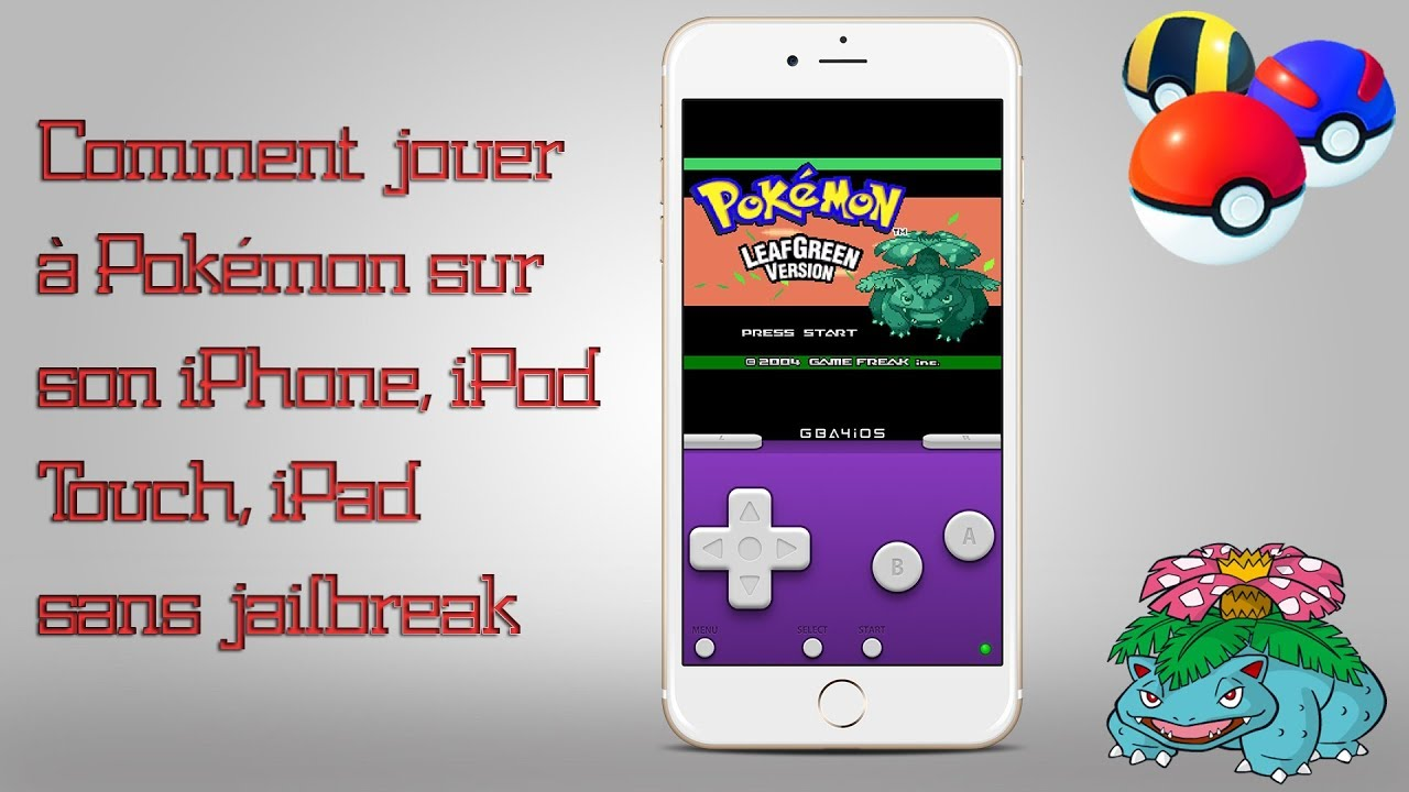 Comment jouer à Pokémon sur son iPhone, iPod Touch, iPad sans jailbreak