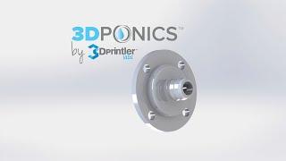 3Dponics Drip Nozzle - 3D Print Timelapse - 5th Generation Makerbot Replicator