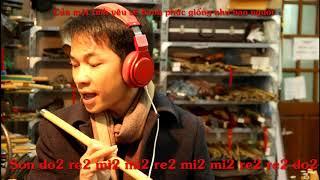 Học thổi sáo bài Thất Tình - Trịnh Đình Quang - Sáo Trúc Mão Mèo
