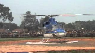 Mamata Banerjee in Helicopter