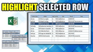 Use this SIMPLE TRICK  to Highlight a Selected Row in Microsoft Excel