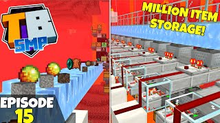 Truly Bedrock S2 Ep15! MILLION ITEM Storage Designing! Bedrock Edition Survival Let's Play!